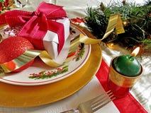 Christmas table setting Stock Image