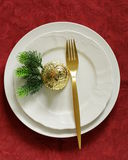 Christmas table setting Stock Photography