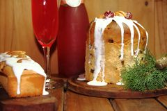 Christmas table sweet bread Royalty Free Stock Photo