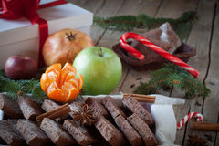Christmas Table With Sweets Stock Images