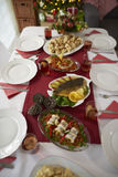 Christmas table with traditional Polish meals Stock Image