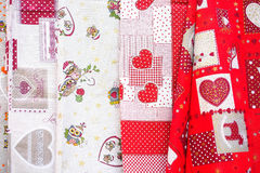 Christmas tablecloths Stock Photos