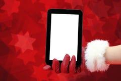Christmas tablet Stock Image
