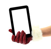 Christmas tablet pc Stock Photos