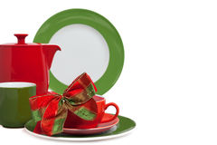 Christmas tableware Stock Images