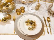 Christmas tableware Stock Photography