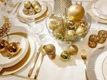Christmas tableware Stock Photos