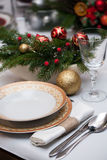 Christmas tableware Stock Photo