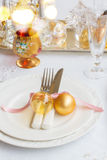 Christmas Tableware set Royalty Free Stock Images