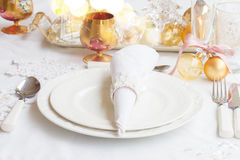 Christmas Tableware set Stock Images