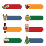 Christmas tabs Stock Photo