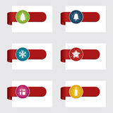 Christmas tabs Stock Images