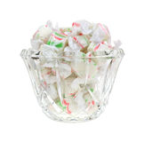Christmas Taffy in Dish Royalty Free Stock Image