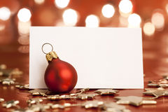 Christmas tag Royalty Free Stock Images