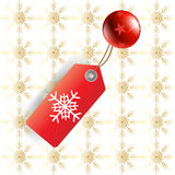 christmas tag Royalty Free Stock Image