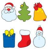 Christmas tag. Vector illustration - set of Christmas labels stock illustration