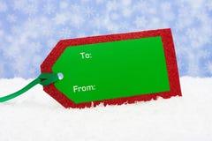 Christmas tag Royalty Free Stock Image