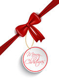 Christmas tag background Royalty Free Stock Image