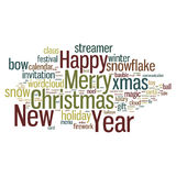 Christmas Tag Cloud Stock Image