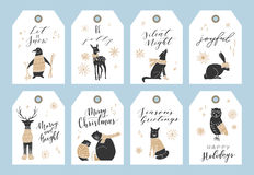 Christmas tag collection. Stock Photos