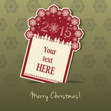 2015 Christmas Tag with field for text.  Stock Photos