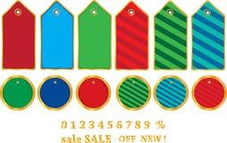 Christmas tag set. Vector Christmas Tag Set. Christmas shopping collection. EPS file available stock illustration