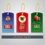 Christmas Tag. Three Christmas tag.  file in eps 10 file, with no gradient meshes,blends,opacity, stroke path,brushes. Also all elements grouped and layered Stock Photos
