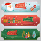 Christmas Tag. Three Christmas ticket.  file in eps 10 file, with no gradient meshes,blends,opacity, stroke path,brushes. Also all elements grouped and layered Stock Images