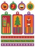 Christmas tags Royalty Free Stock Photos