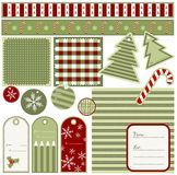 Christmas tags. Christmas elements and patterns Royalty Free Stock Image