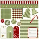 Christmas tags Royalty Free Stock Image