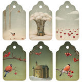 Christmas tags Stock Images