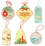Christmas tags Royalty Free Stock Images