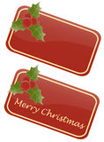 Christmas tags. Illustration of two christmas tags: one blank and one with the words Merry Christmas. Eps available Royalty Free Stock Photography