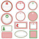 Christmas Tags. Set of Classic style Christmas Tags Royalty Free Stock Images