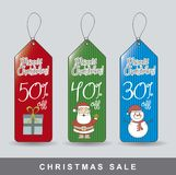 Christmas tags Stock Image