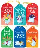 Christmas tags Stock Image