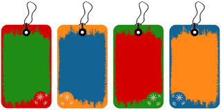 Christmas tags. Vector illustration of tags with decoration elements for Christmas Royalty Free Stock Photo
