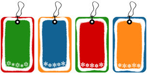 Christmas tags. Vector illustration of tags with decoration elements for Christmas Stock Image