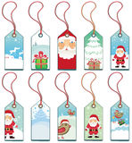 Christmas  tags. Christmas grunge tags. To see similar, please VISIT MY GALLERY Stock Image