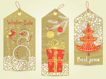 Christmas tags Stock Photography