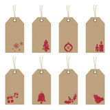 Christmas tags with icons Stock Photo
