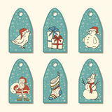 Christmas tags and labels Royalty Free Stock Photo