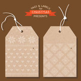 Christmas Tags or Labels Stock Photography