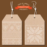 Christmas Tags or Labels Stock Images
