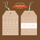Christmas Tags or Labels Royalty Free Stock Images