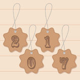 Christmas tags.  objects. Vector illustration. Royalty Free Stock Images