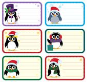 Christmas tags with penguins theme 1 Stock Images