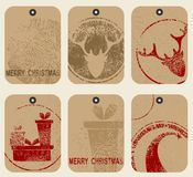 Christmas tags set. Royalty Free Stock Photo