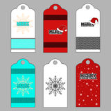 Christmas tags set, gift labels. Stock Photo